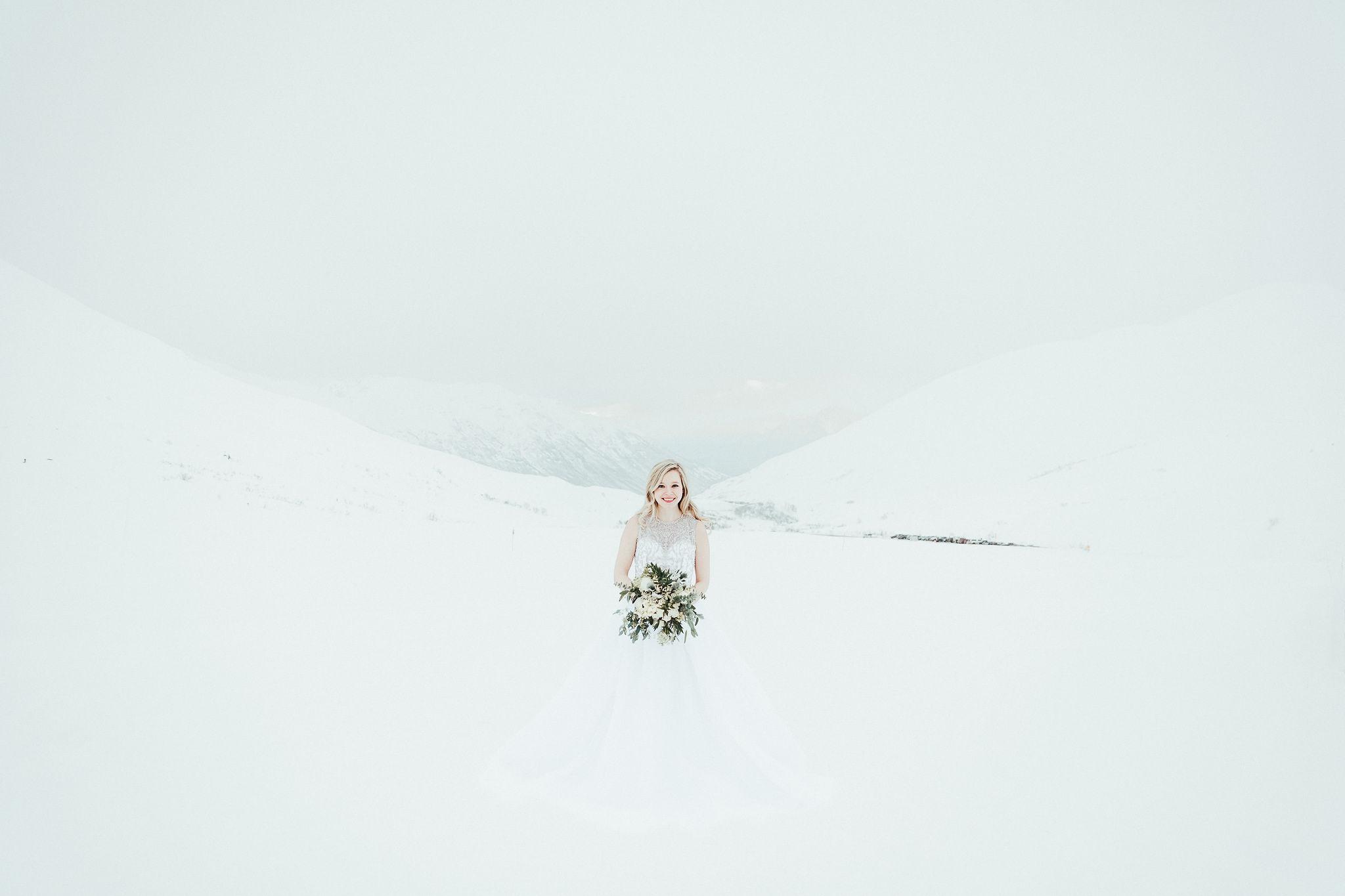 Winter Bride. Anderson's Bride. Wedding Dress. Wandering Weddings.
