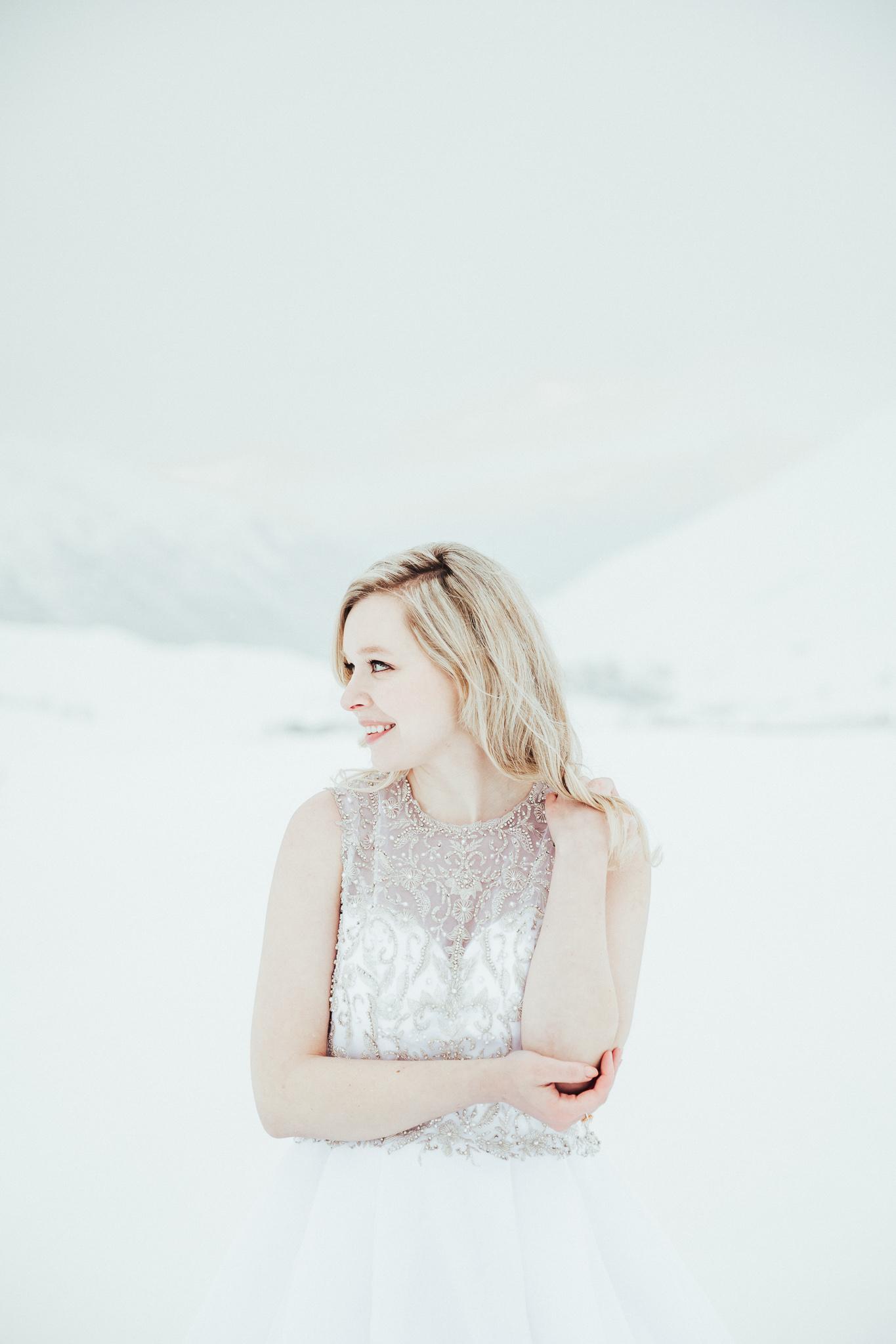 Winter Bridal Portraits Alaska
