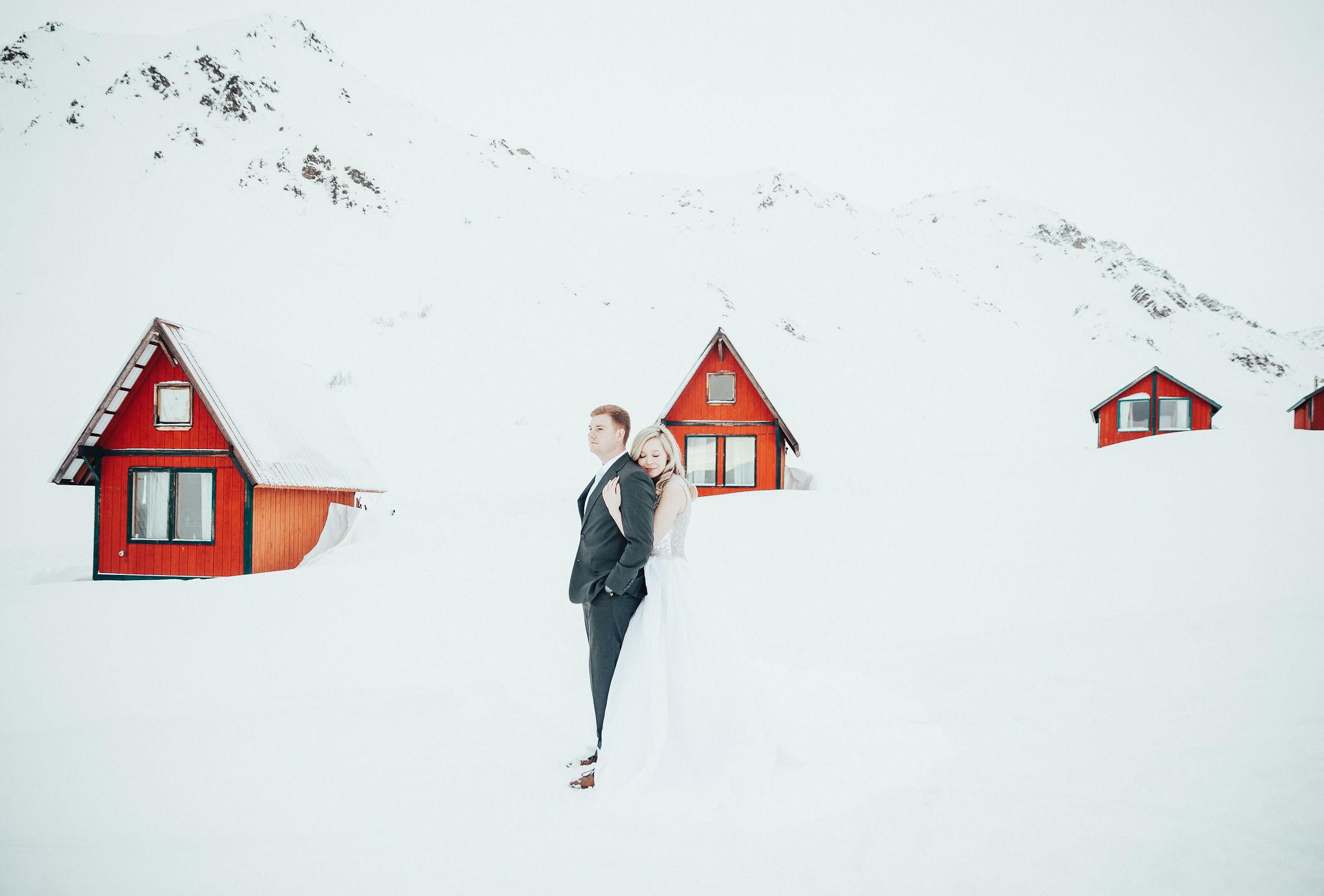 Hatcher Pass, AK. Elopement Photographer. WInter Wedding.