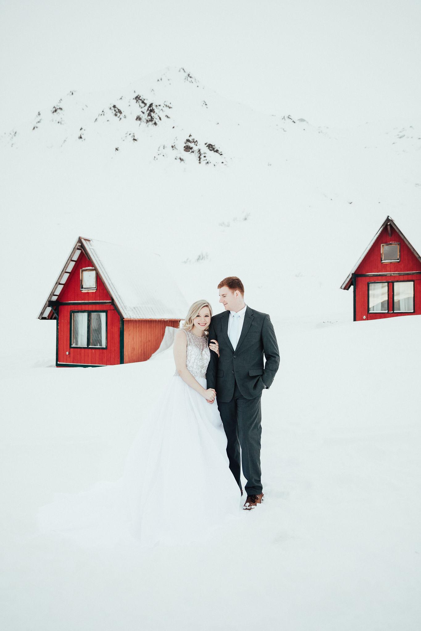 Anchorage, Alaska Winter Wedding Adventurous Wedding. Wandering Weddings
