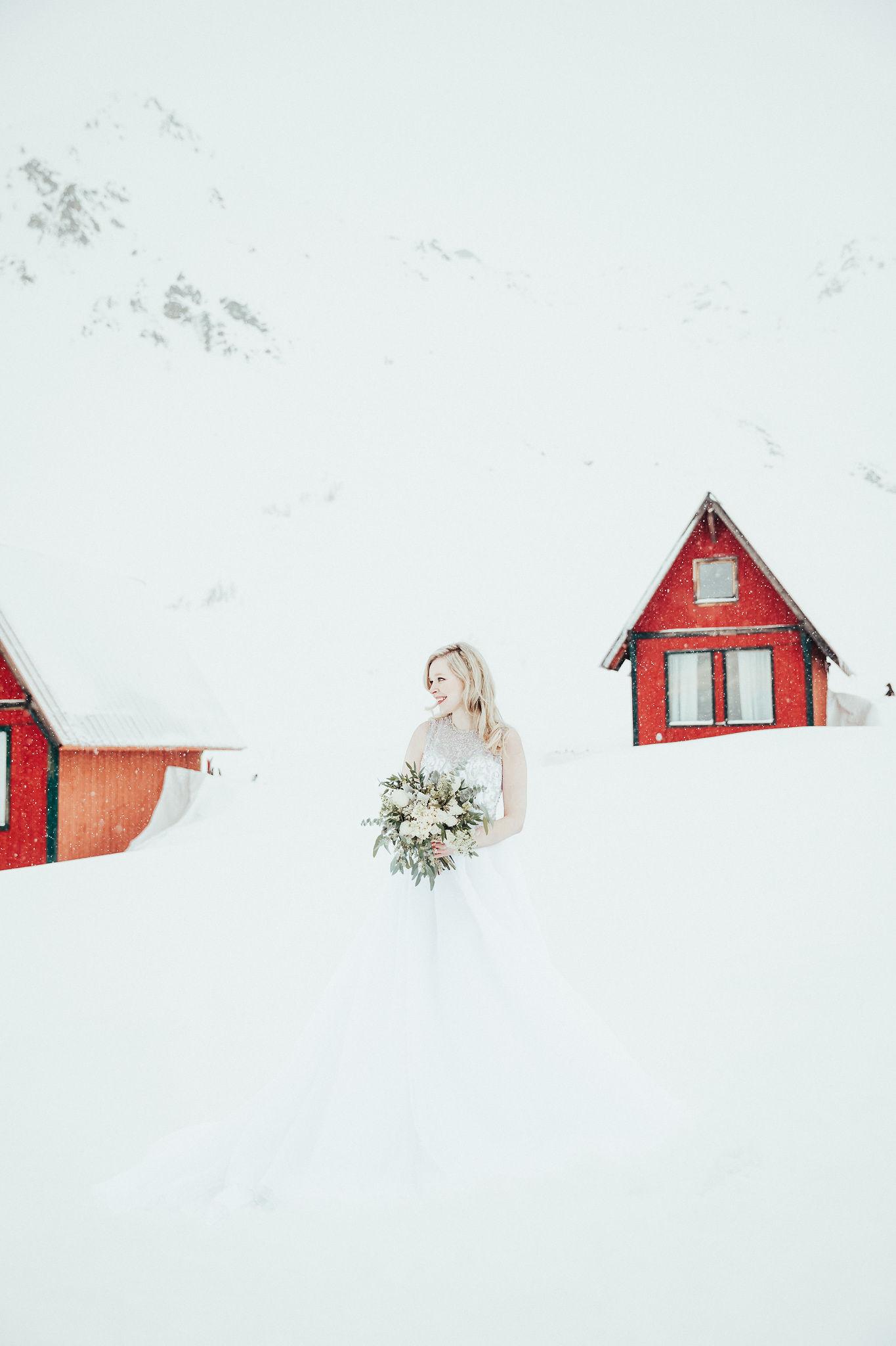 Anderson's Bride Anchorage Alaska Winter Wedding