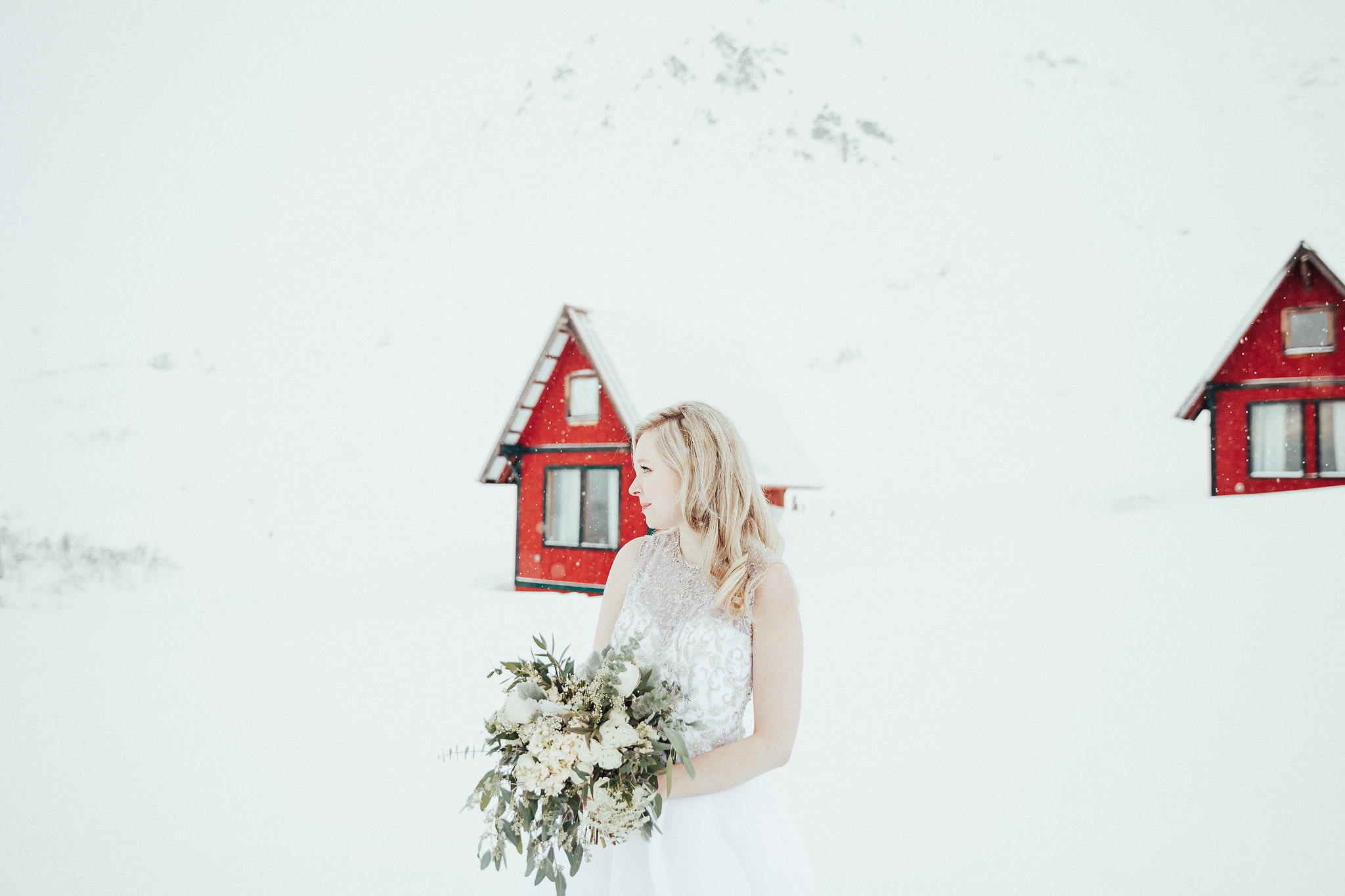 Winter Wedding Dress Alaska Wedding
